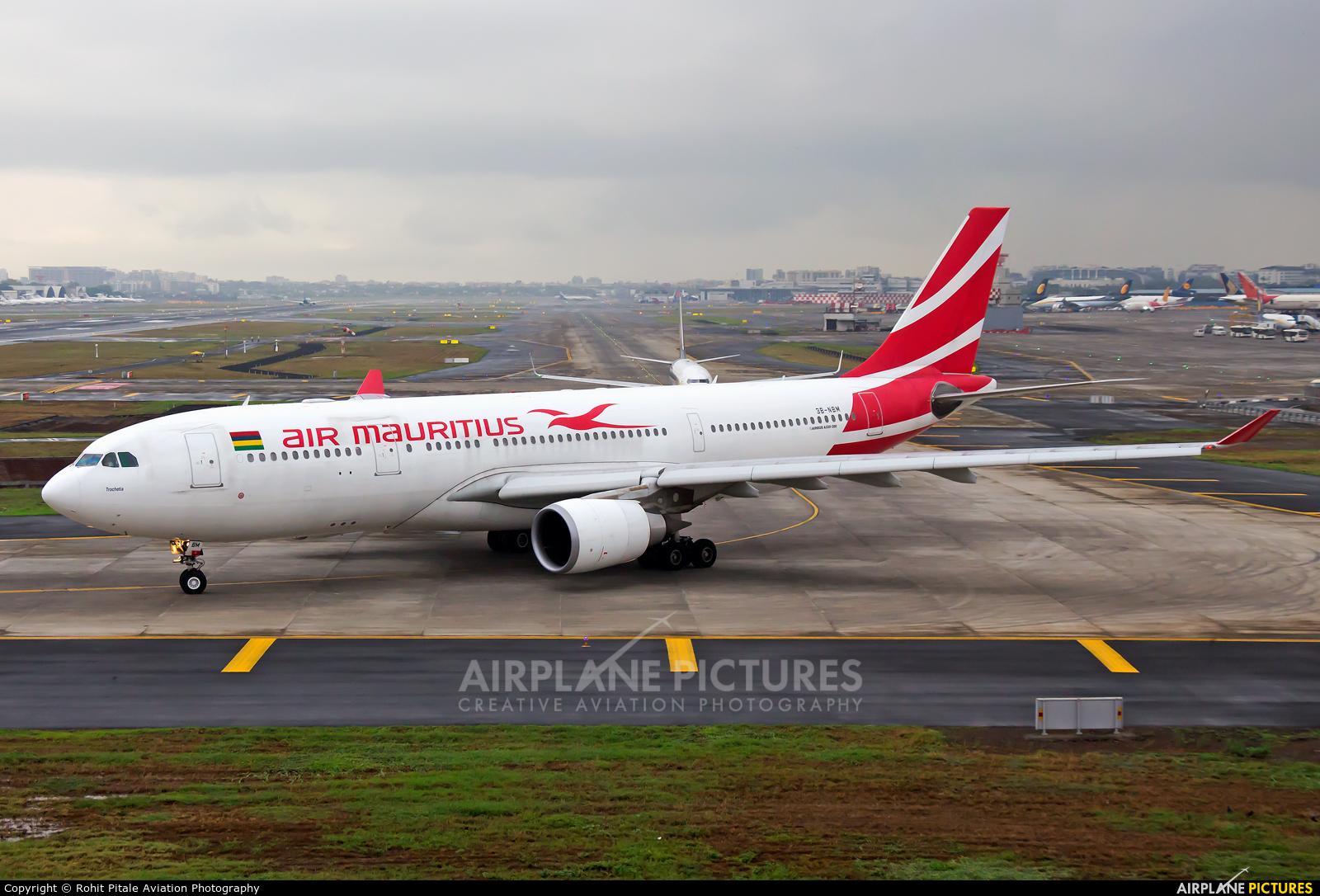 Air Mauritius 3B-NBM aircraft at Mumbai - Chhatrapati Shivaji Intl