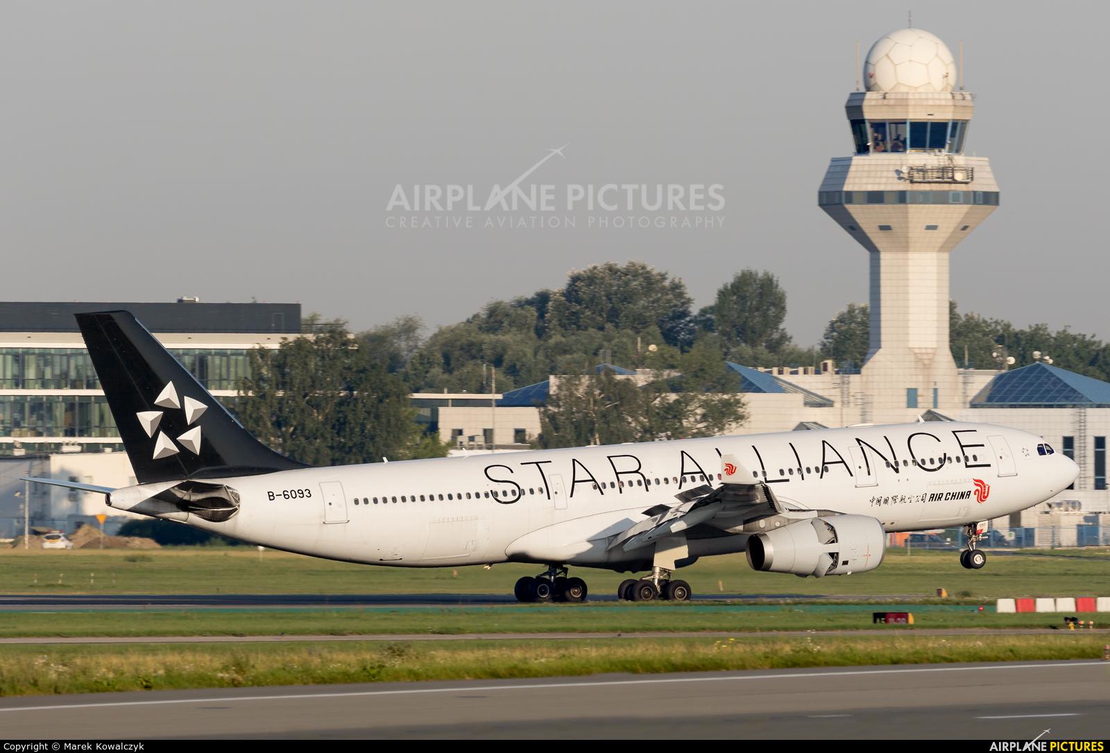 Air China B-6093 aircraft at Warsaw - Frederic Chopin