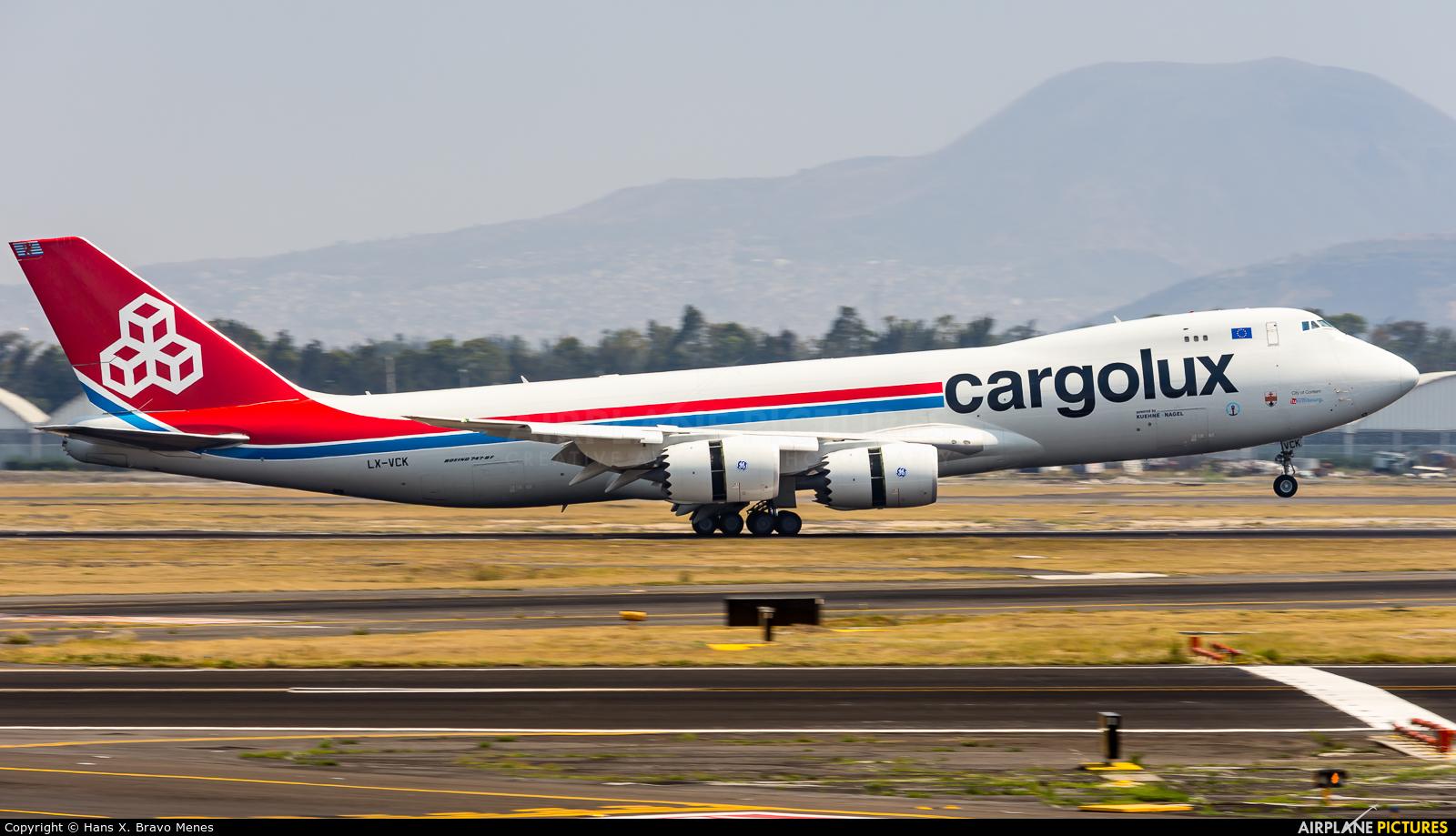 Cargolux LX-VCK aircraft at Mexico City - Licenciado Benito Juarez Intl