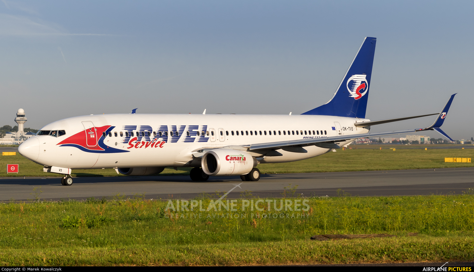 Travel Service OK-TVS aircraft at Warsaw - Frederic Chopin