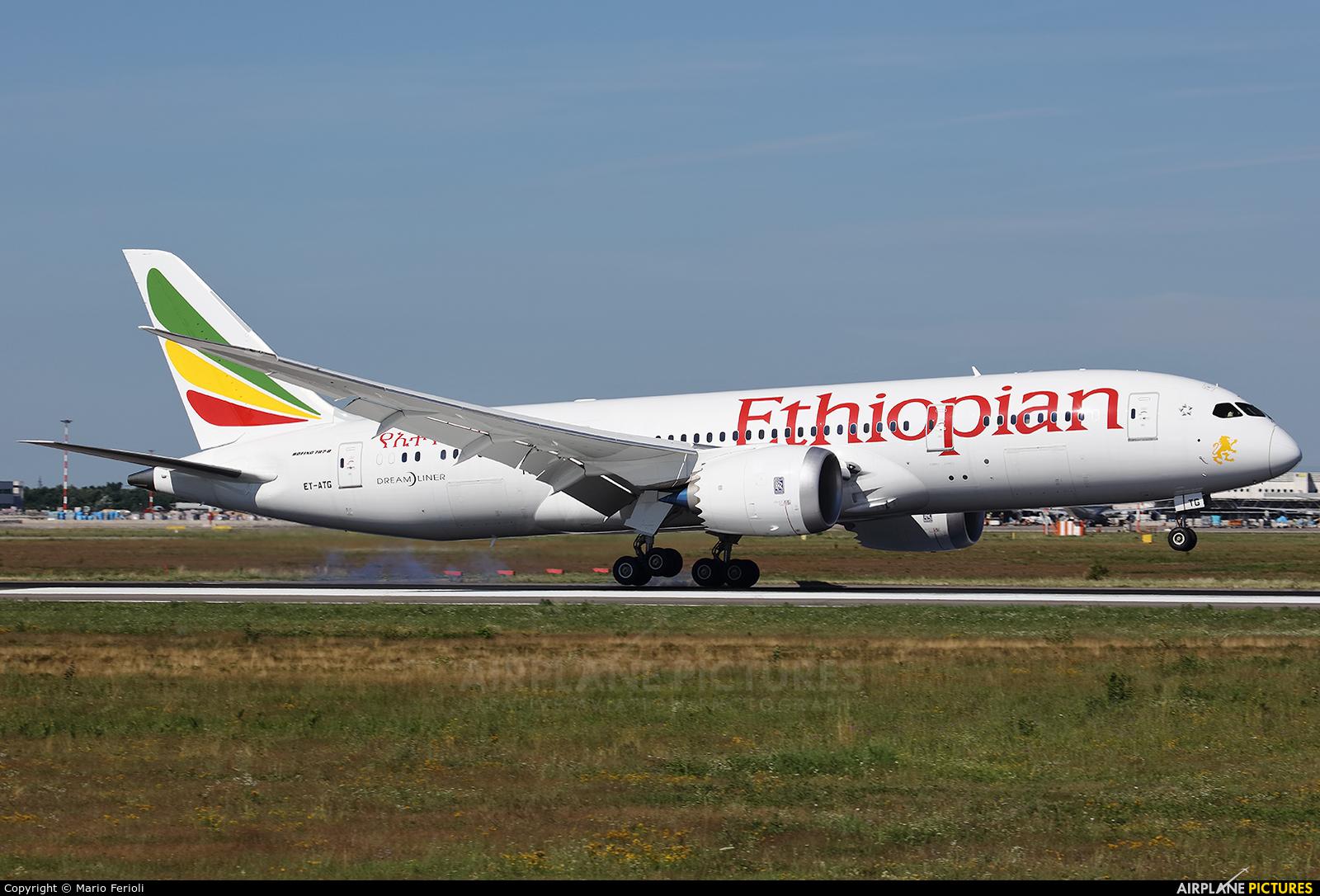 Ethiopian Airlines ET-ATG aircraft at Milan - Malpensa