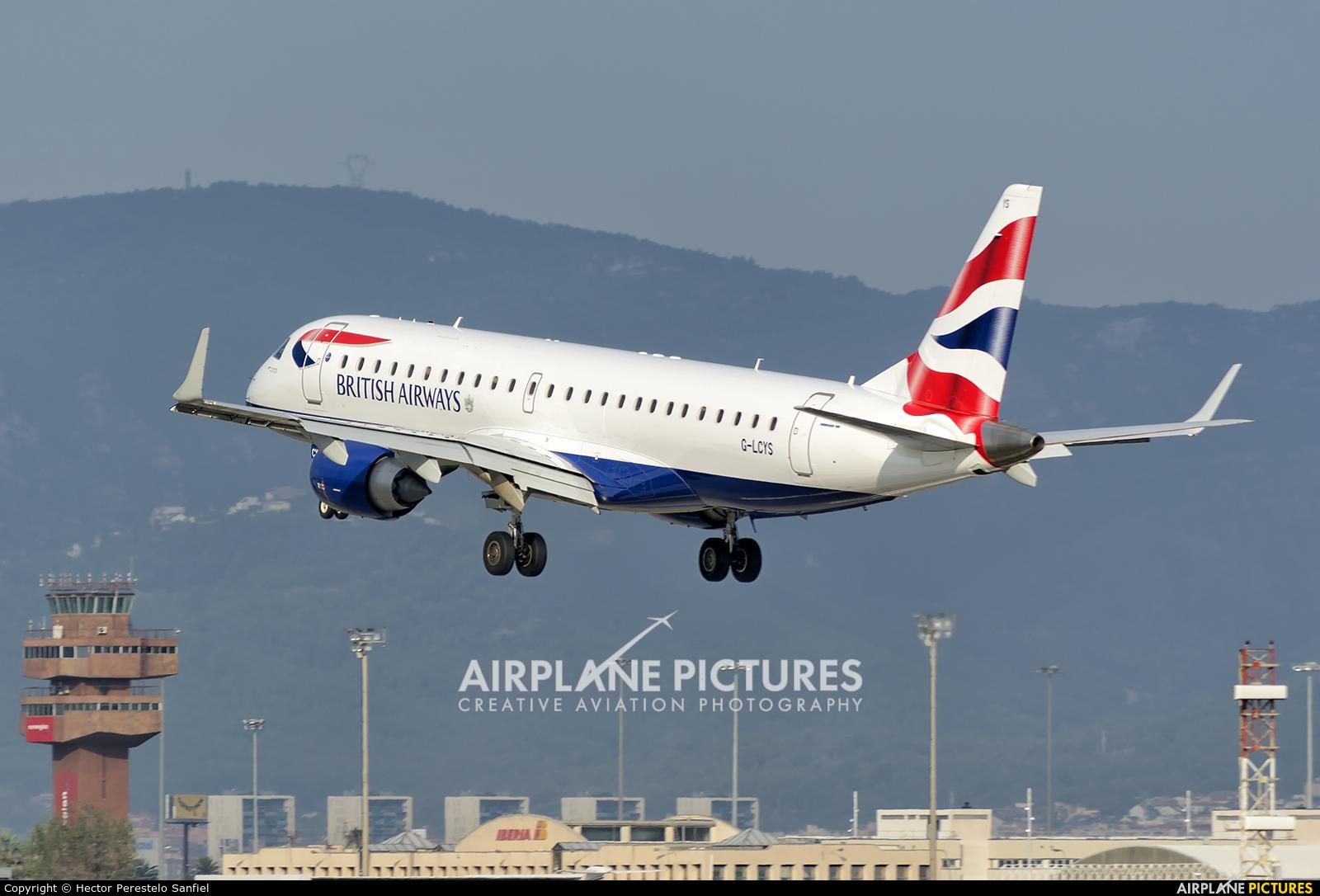 British Airways - City Flyer G-LCYS aircraft at Barcelona - El Prat