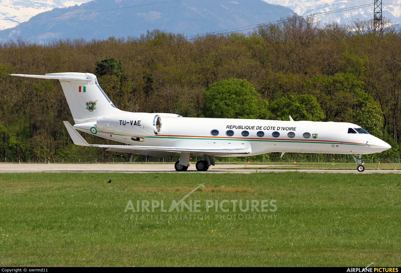 Ivory Coast - Government TU-VAE aircraft at Geneva Intl