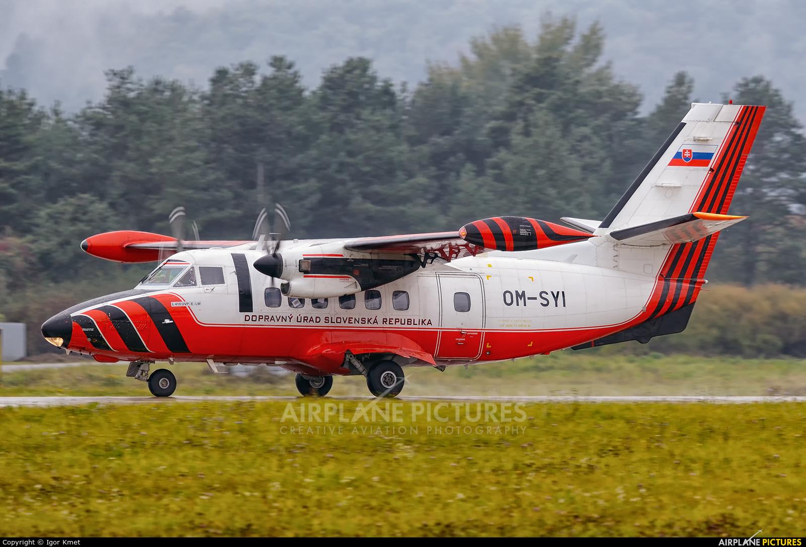 Slovakia - Civil Aviation Authority OM-SYI aircraft at Sliač