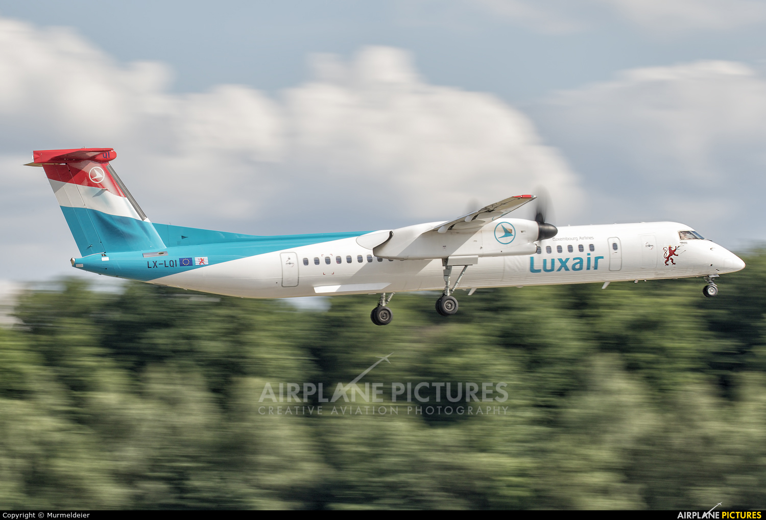 Luxair LX-LQI aircraft at Luxembourg - Findel