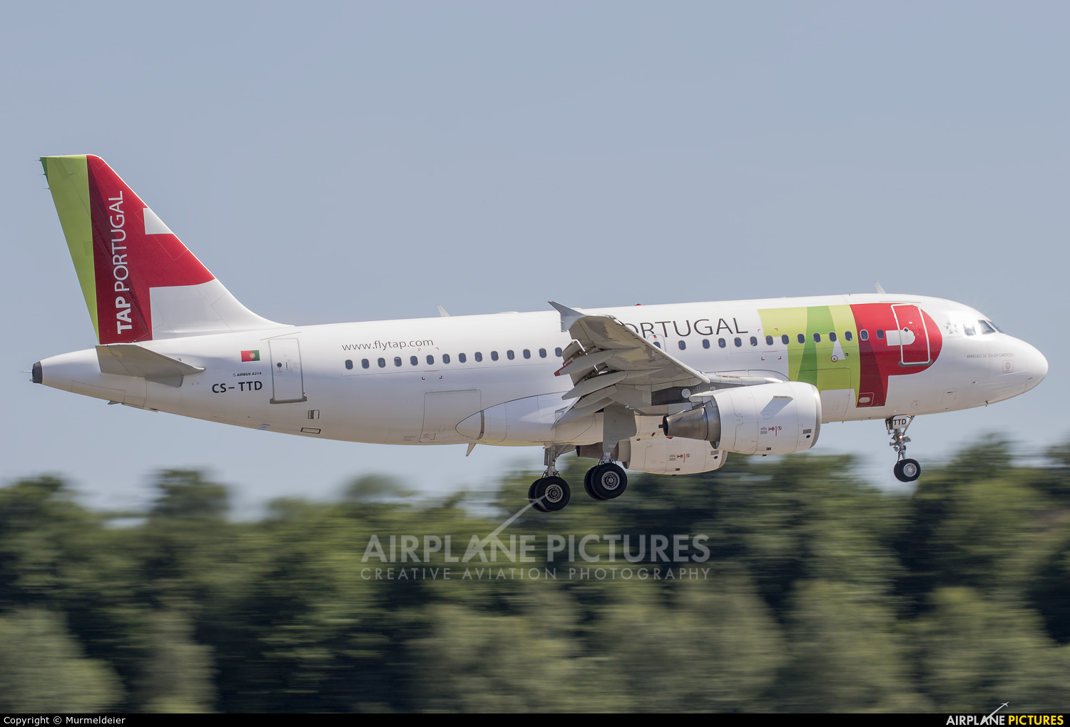 TAP Portugal CS-TTD aircraft at Luxembourg - Findel