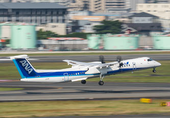 JA845A - ANA - All Nippon Airways de Havilland Canada DHC-8-400Q / Bombardier Q400