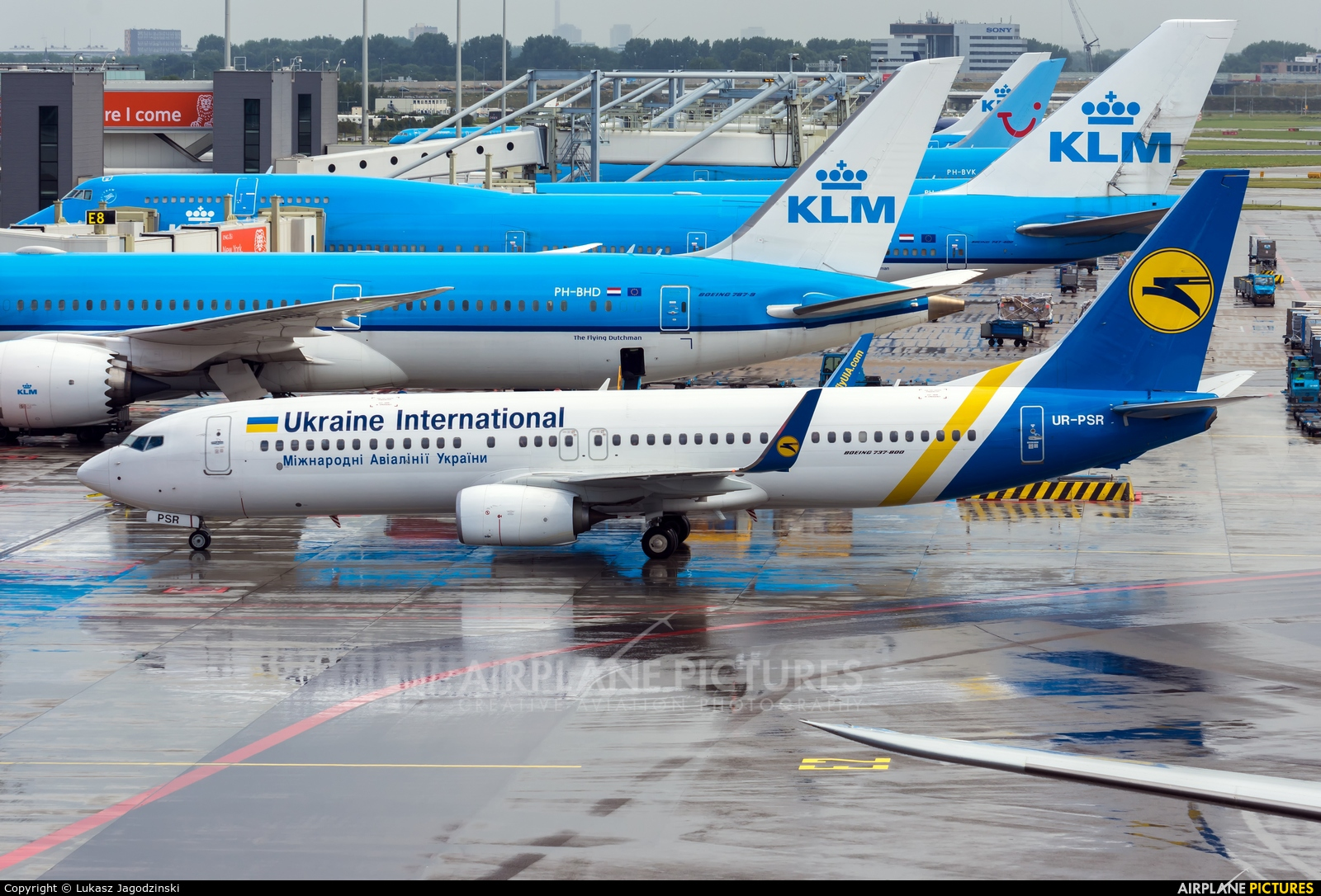 Ukraine International Airlines UR-PSR aircraft at Amsterdam - Schiphol