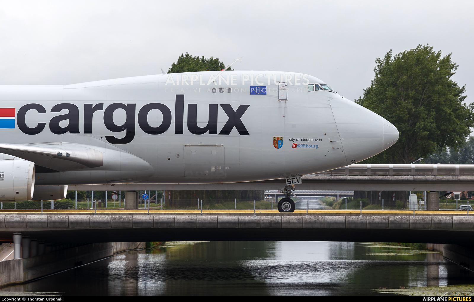 Cargolux LX-SCV aircraft at Amsterdam - Schiphol