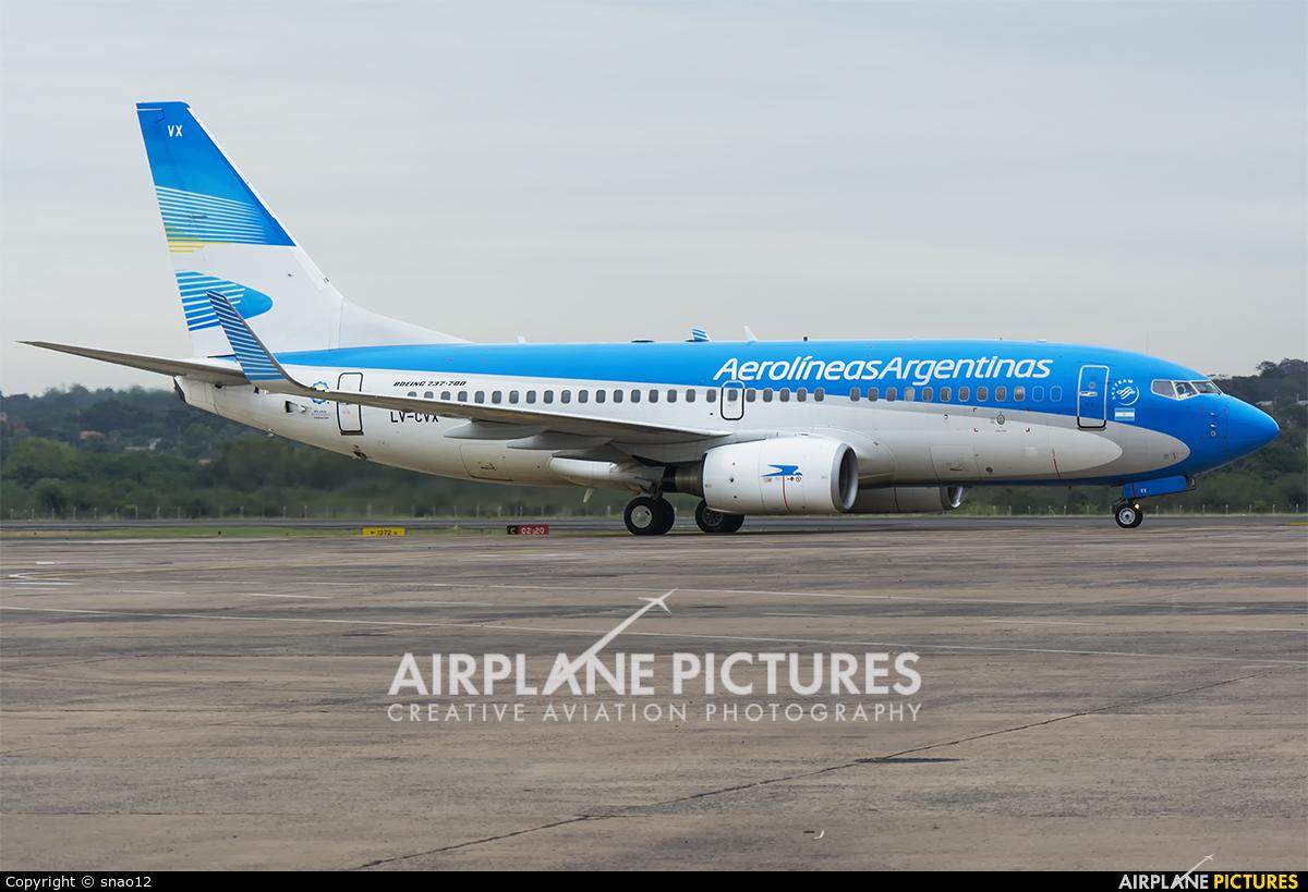Aerolineas Argentinas LV-CVX aircraft at Asuncion - Silvio Pettirossi Intl