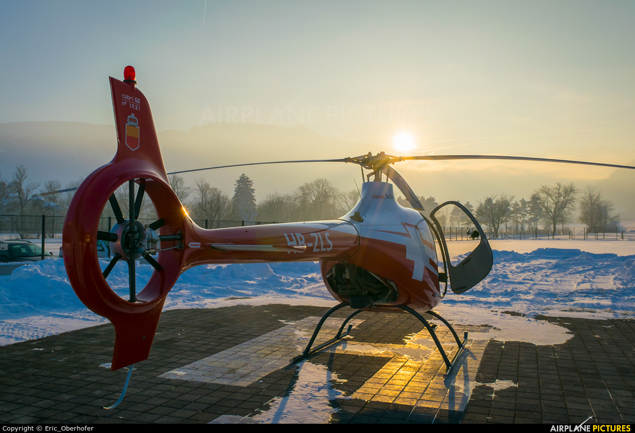 Swiss Helicopter HB-ZLS aircraft at Balzers heliport