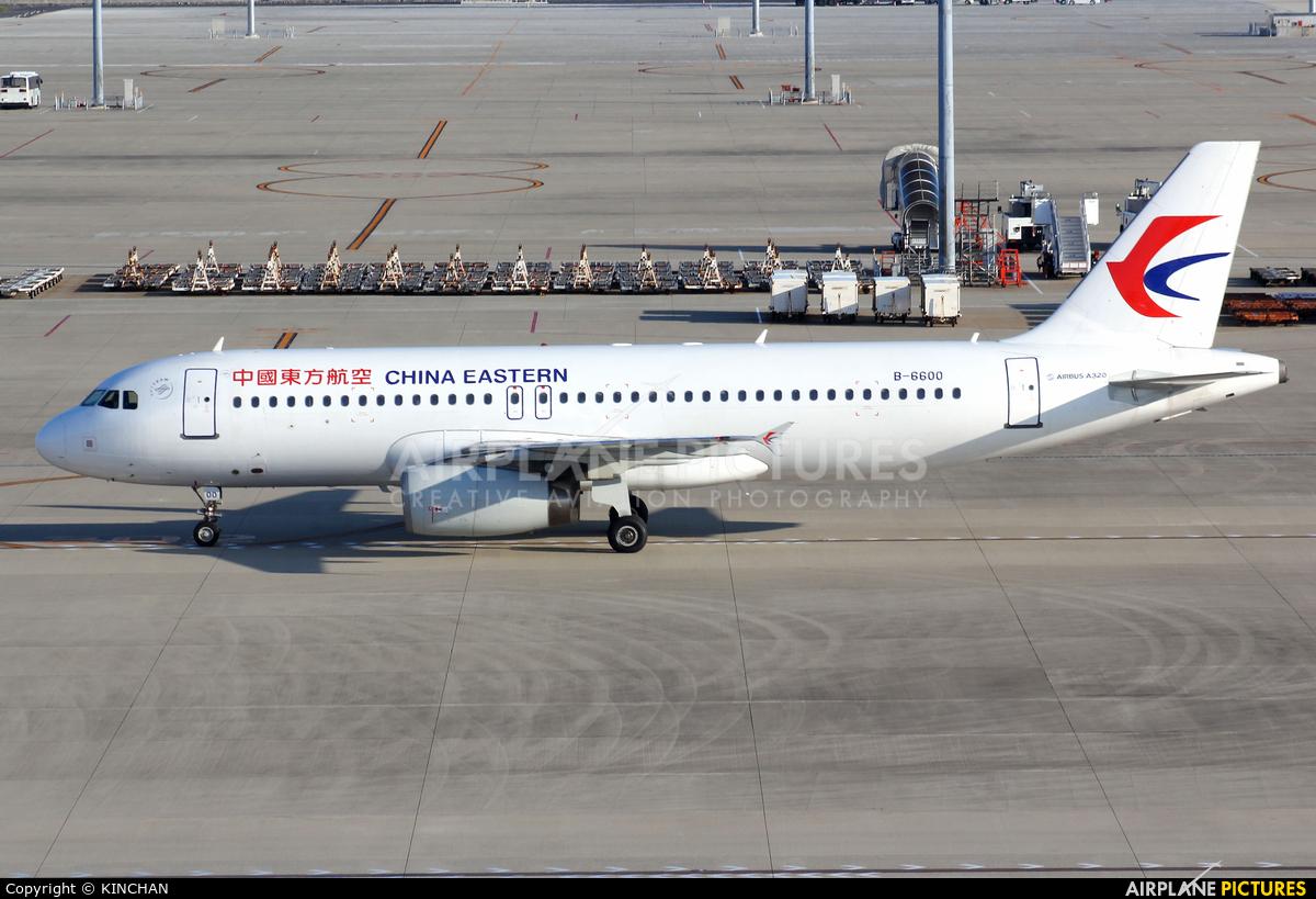 China Eastern Airlines B-6600 aircraft at Chubu Centrair Intl