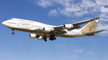 Golden Atlas Air B744 visits San Jose with Manchester United players onboard title=