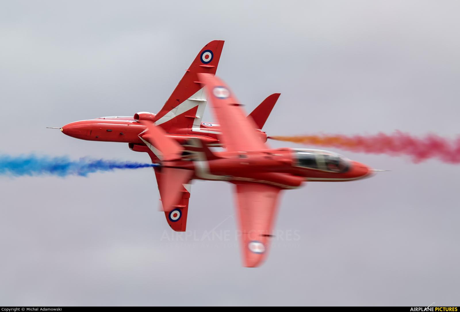 "Royal Air Force ""Red Arrows"" XX244 aircraft at Fairford"