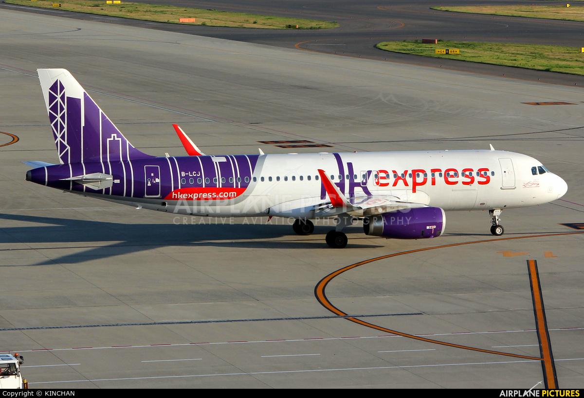 Hong Kong Express B-LCJ aircraft at Chubu Centrair Intl
