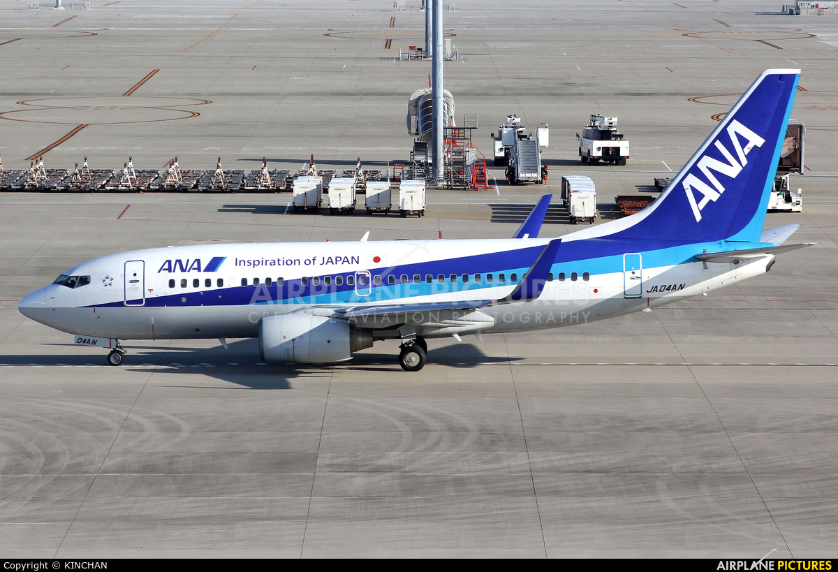 ANA - All Nippon Airways JA04AN aircraft at Chubu Centrair Intl