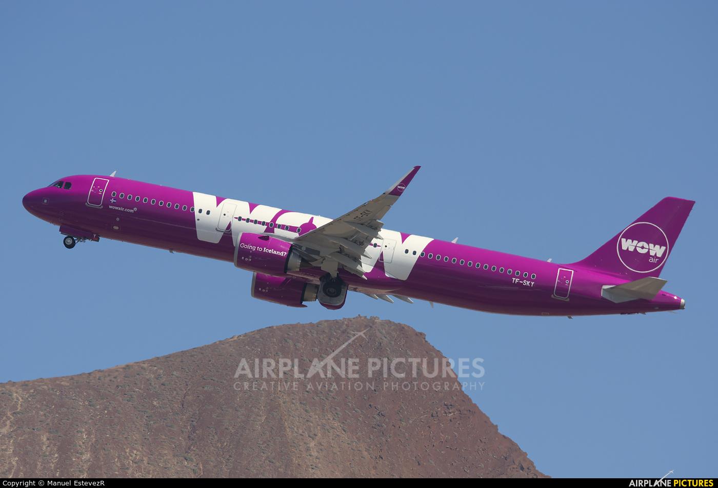 WOW Air TF-SKY aircraft at Tenerife Sur - Reina Sofia