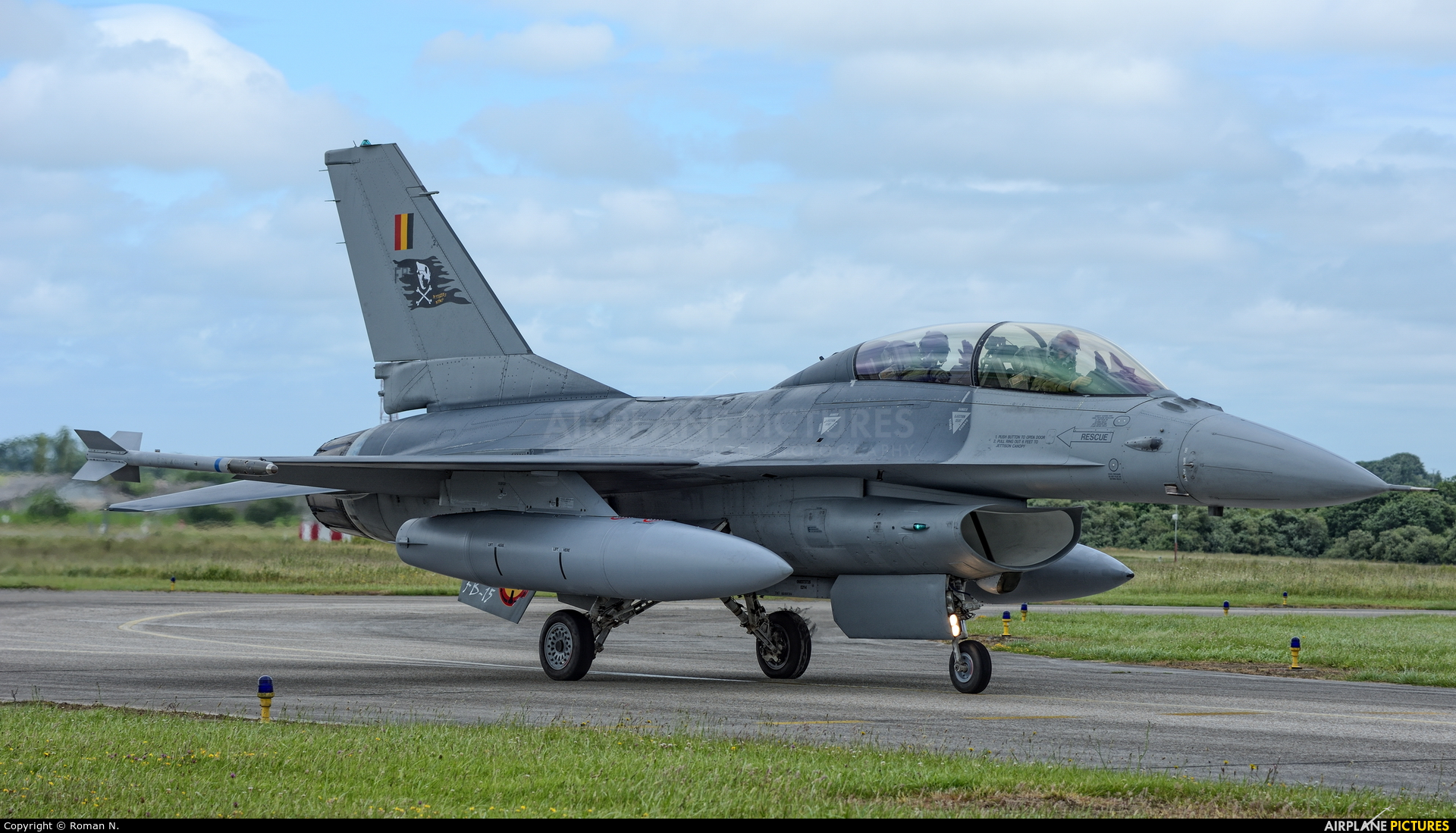 Belgium - Air Force FB-15 aircraft at Landivisiau