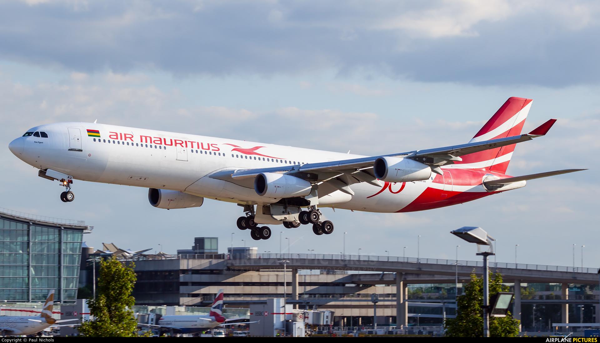 Air Mauritius 3B-NAU aircraft at London - Heathrow