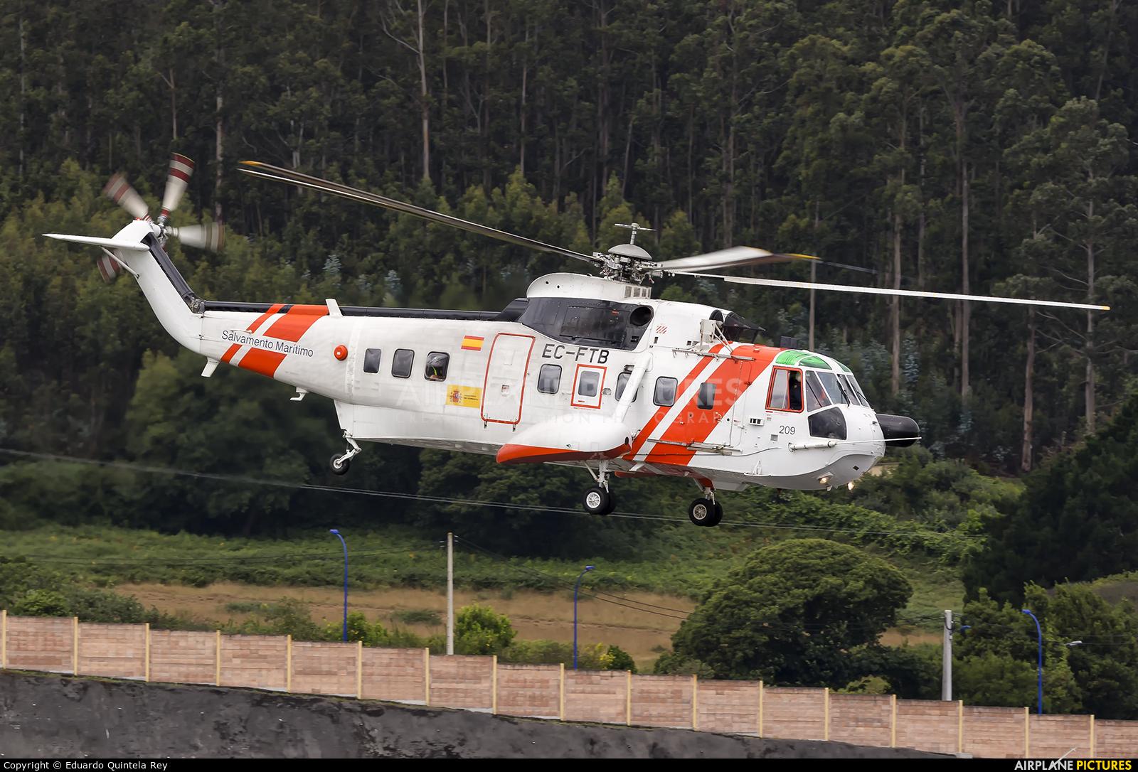 Spain - Coast Guard EC-FTB aircraft at La Coruña