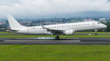 NAC Embraer 190 arrived to Costa Rica for painting