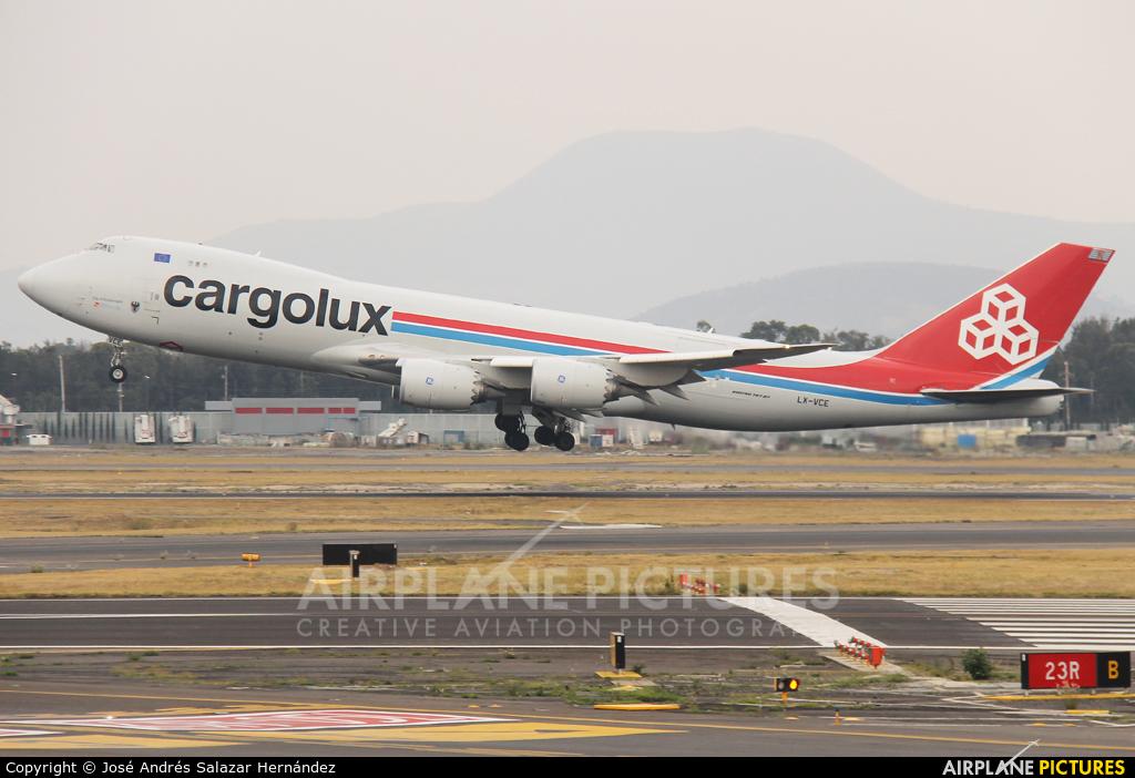 Cargolux LX-VCE aircraft at Mexico City - Licenciado Benito Juarez Intl