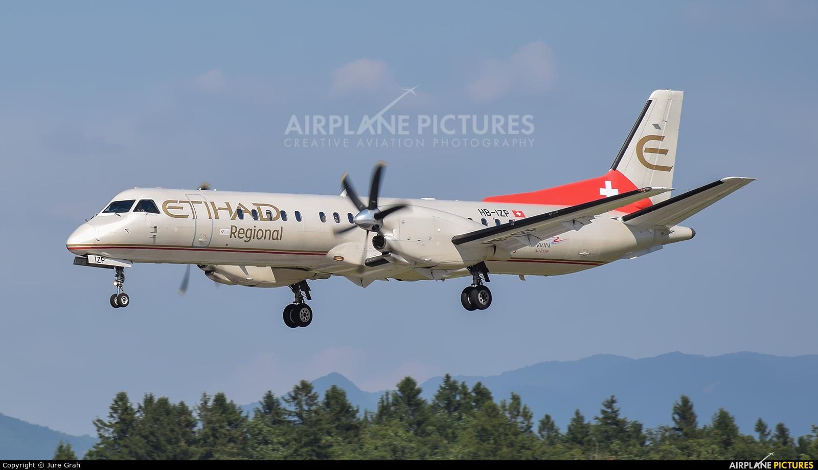 Etihad Regional - Darwin Airlines HB-IZP aircraft at Ljubljana - Brnik