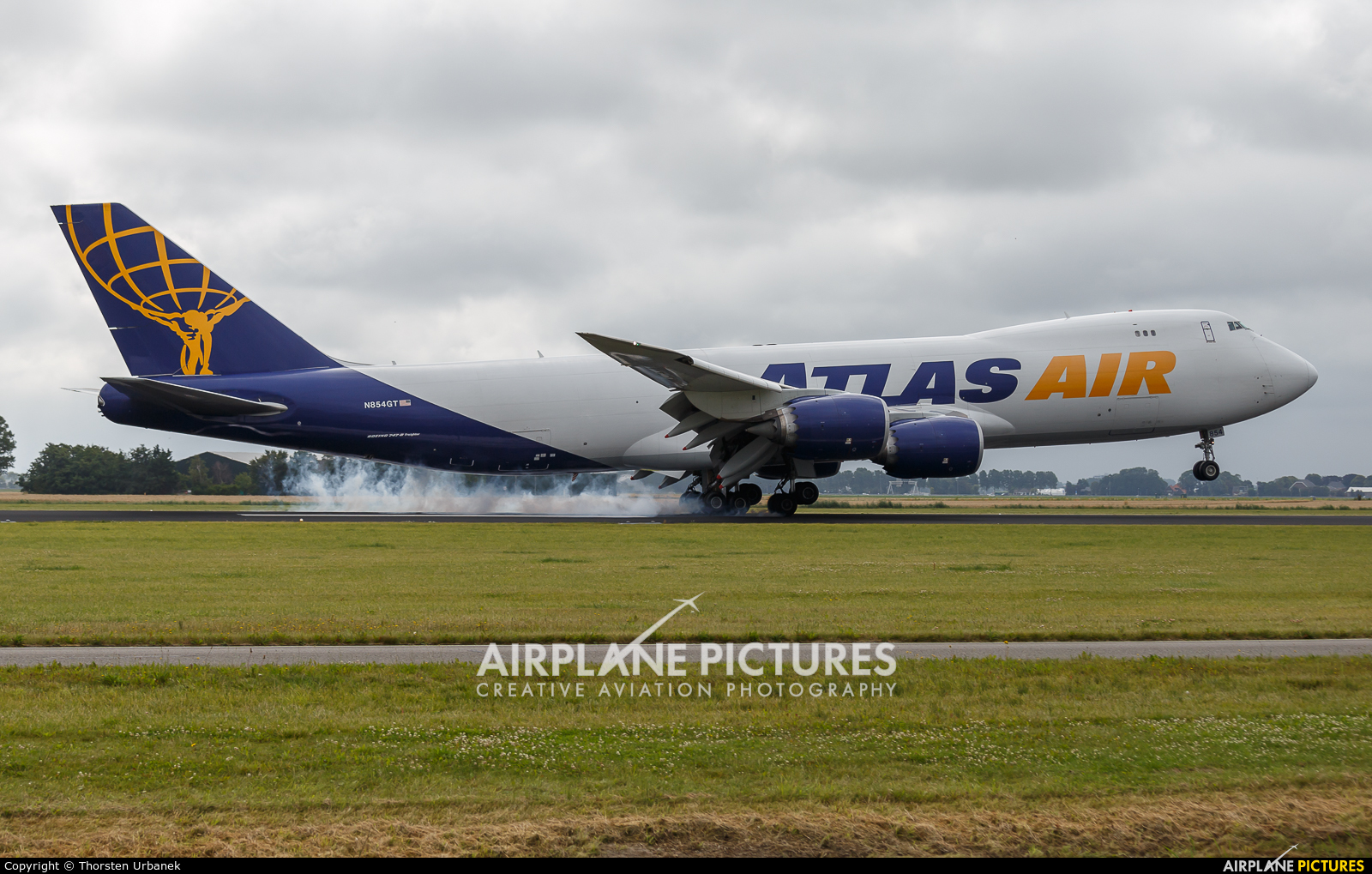 Atlas Air N854GT aircraft at Amsterdam - Schiphol