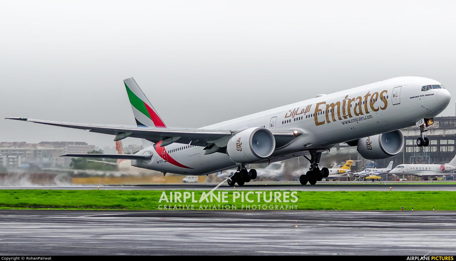 Emirates Airlines A6-ECD aircraft at Mumbai - Chhatrapati Shivaji Intl