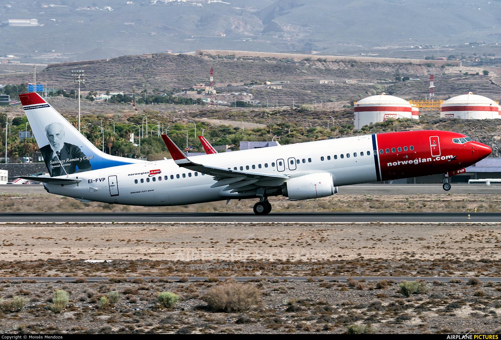 Norwegian Air International EI-FVP aircraft at Tenerife Sur - Reina Sofia