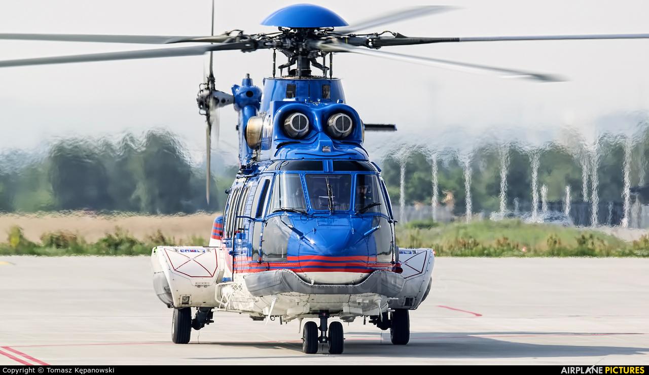 Dancopter OY-HOM aircraft at Rzeszów-Jasionka