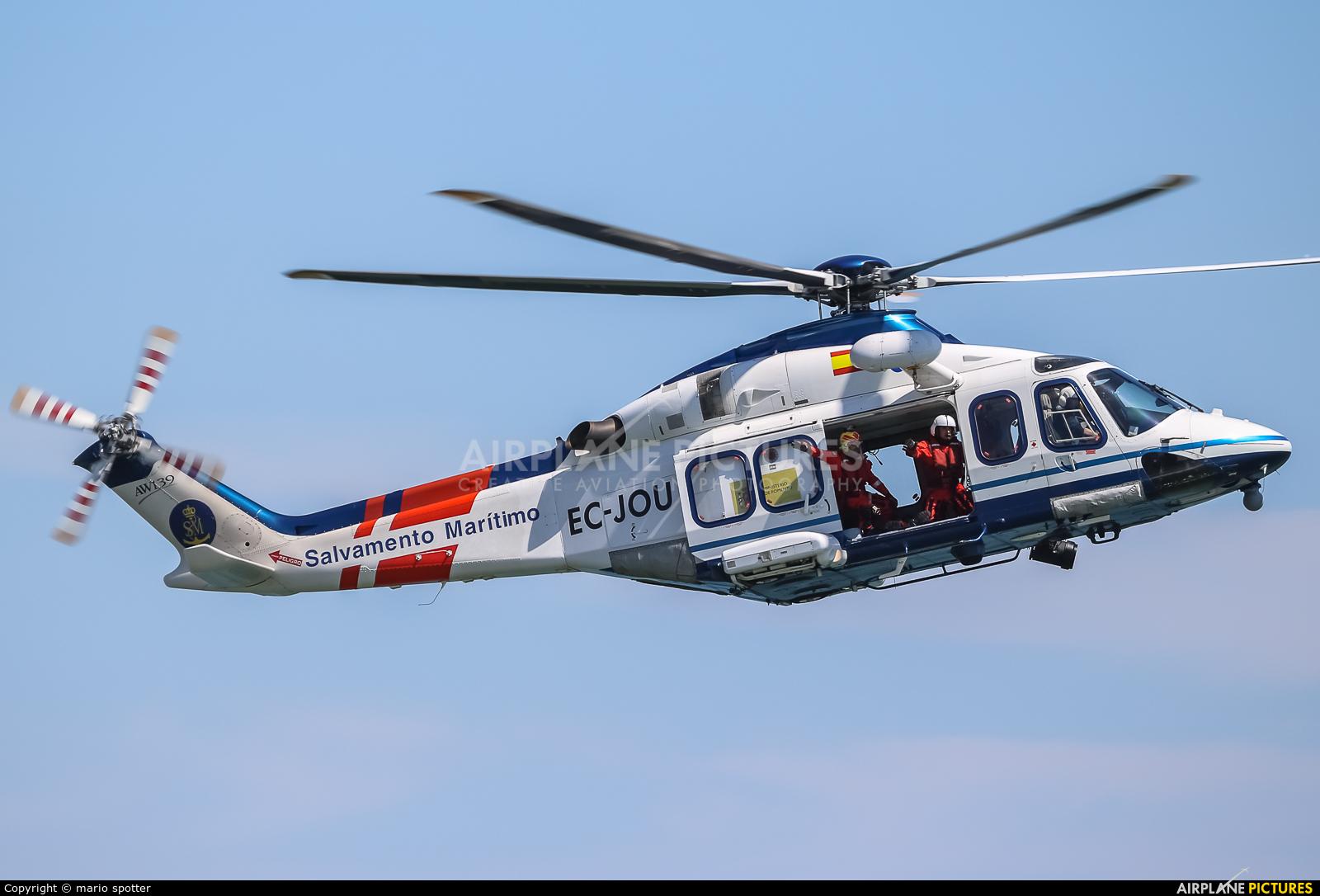 Spain - Coast Guard EC-JOU aircraft at Oviedo