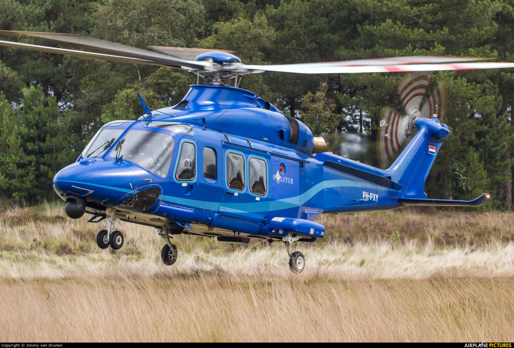 Netherlands - Police PH-PXY aircraft at GLV-5 Training area