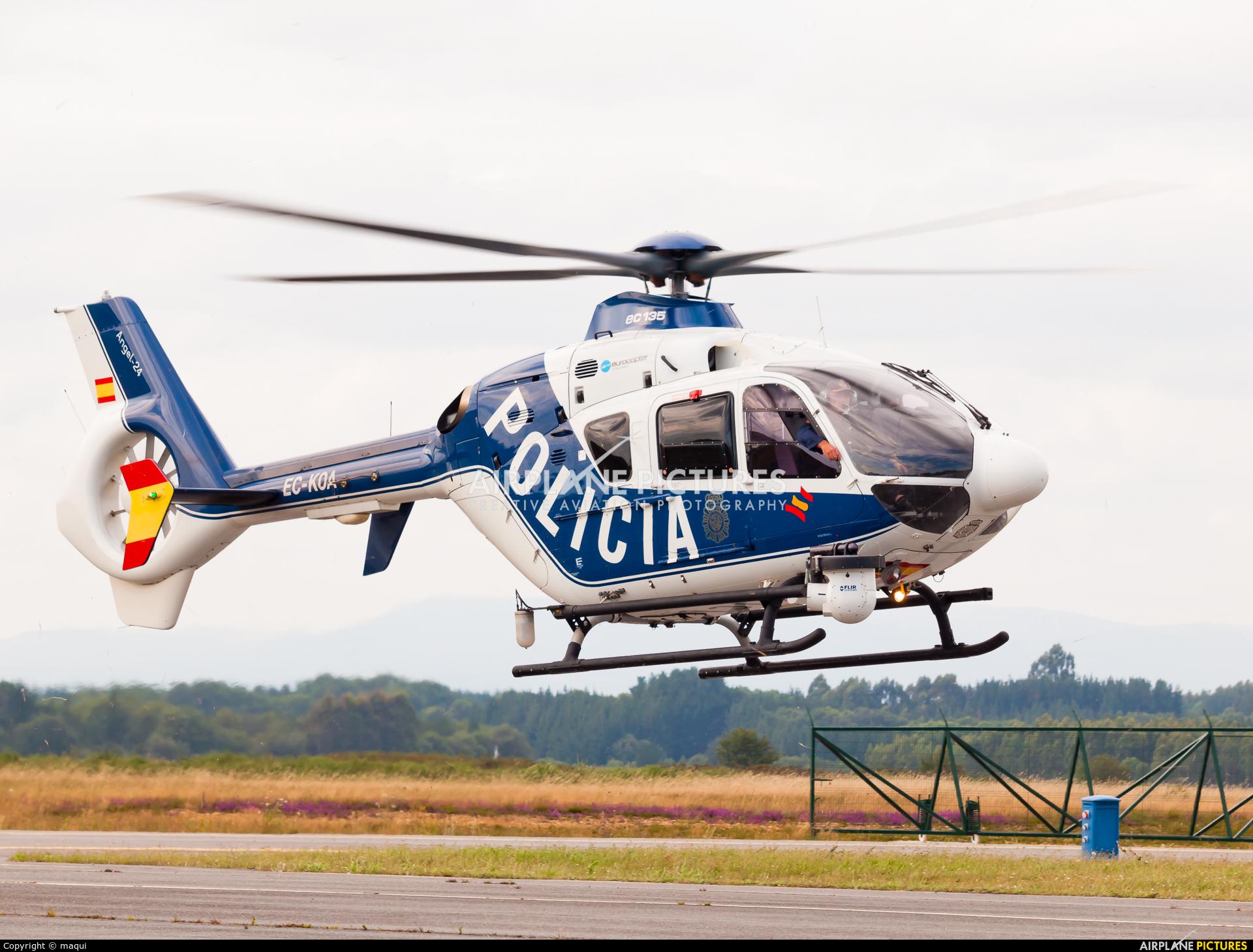 Spain - Police EC-KOA aircraft at Lugo - Rozas