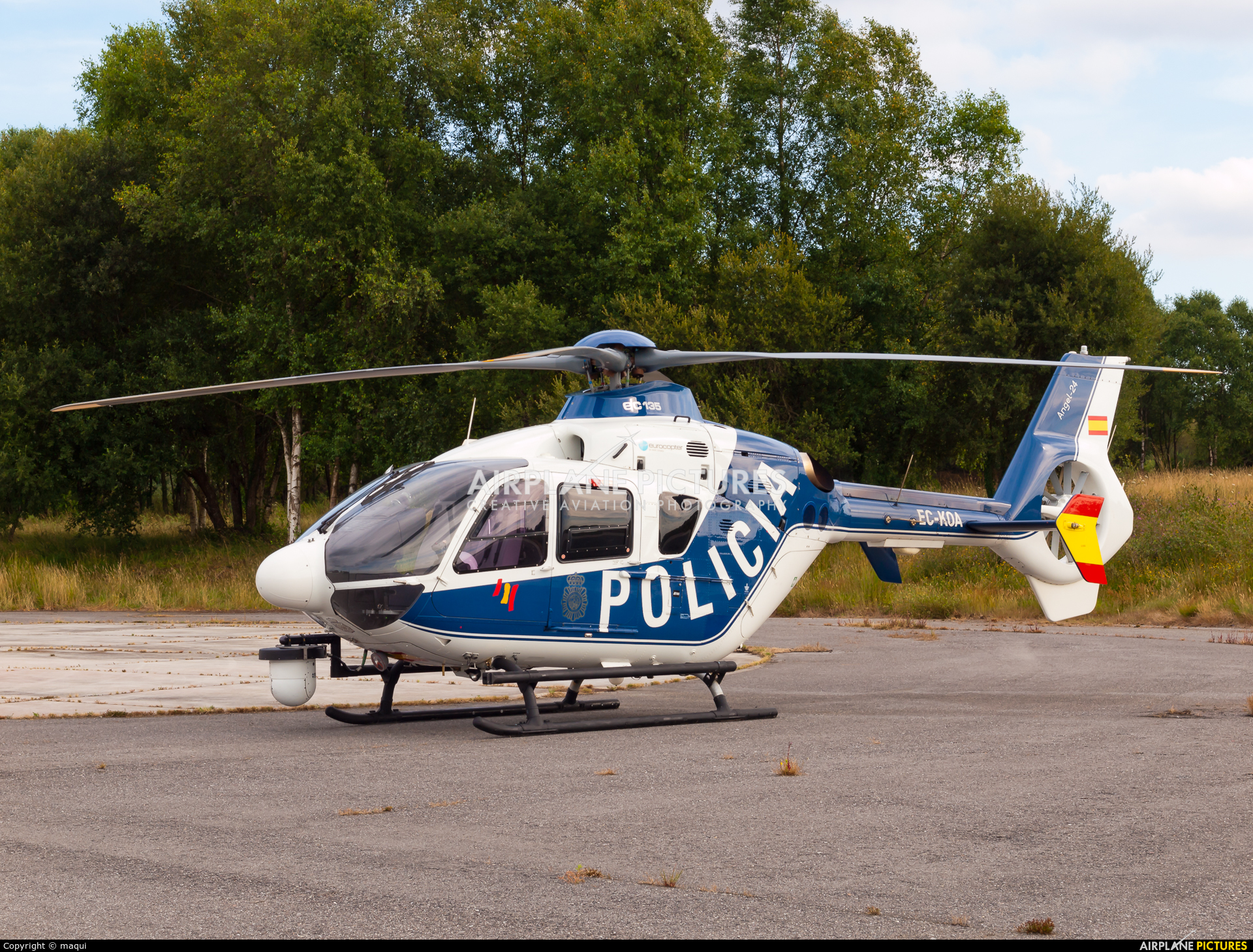 Spain - Police EC-KOA aircraft at Lugo - Rozas