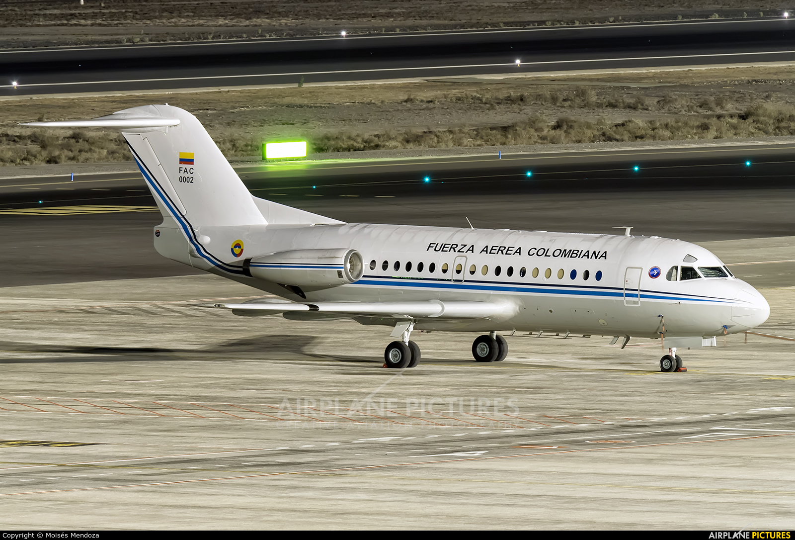 Colombia - Air Force FAC-0002 aircraft at Tenerife Sur - Reina Sofia