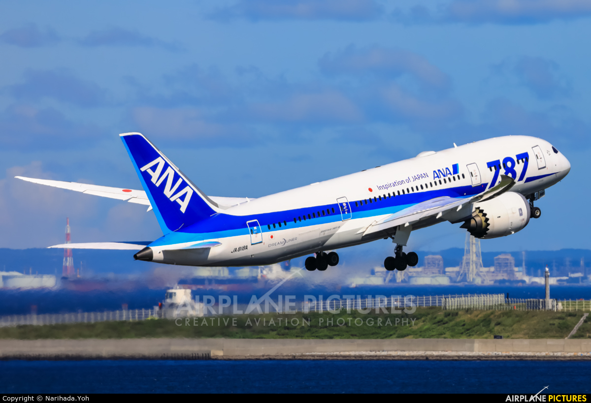 ANA - All Nippon Airways JA818A aircraft at Tokyo - Haneda Intl