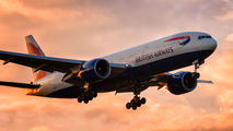 G-VIIA - British Airways Boeing 777-200 aircraft