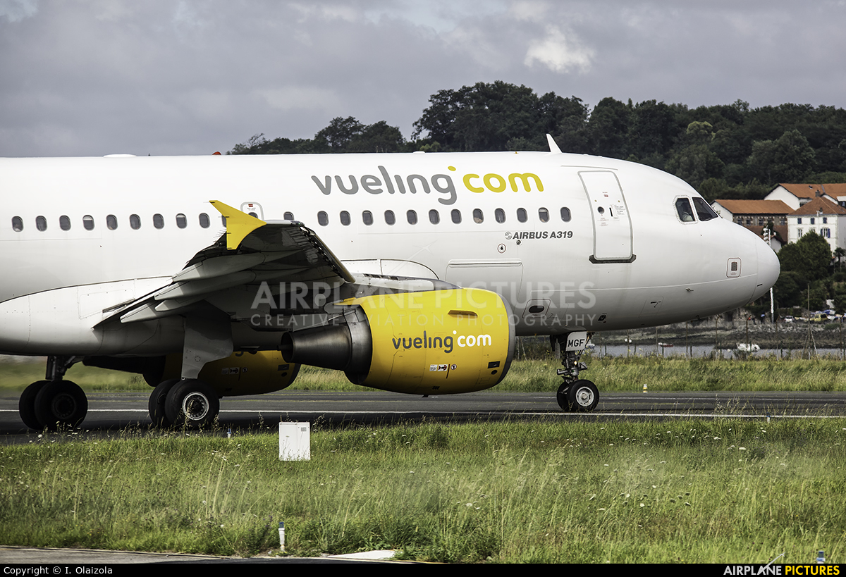 Vueling Airlines EC-MGF aircraft at San Sebastian