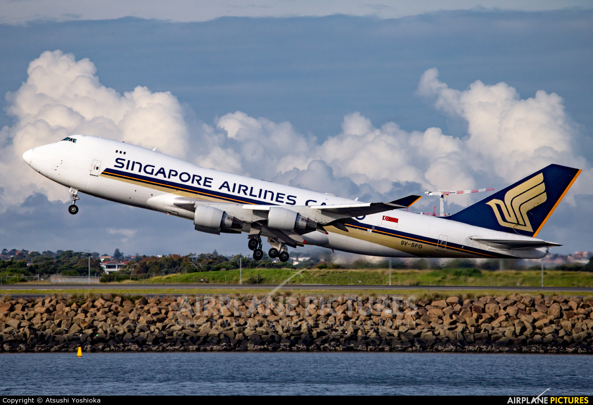 Singapore Airlines Cargo 9V-SFO aircraft at Sydney - Kingsford Smith Intl, NSW
