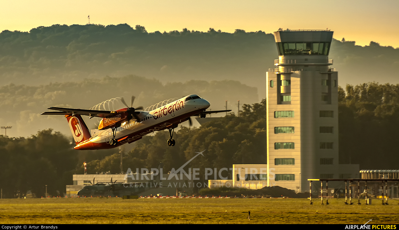 Air Berlin D-ABQF aircraft at Kraków - John Paul II Intl
