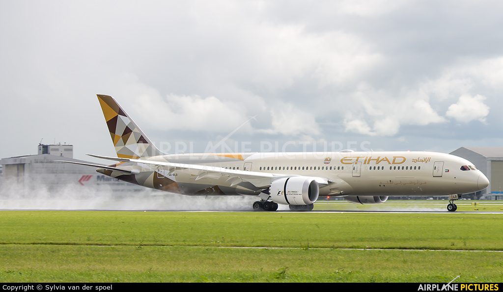 Etihad Airways A6-BLO aircraft at Amsterdam - Schiphol