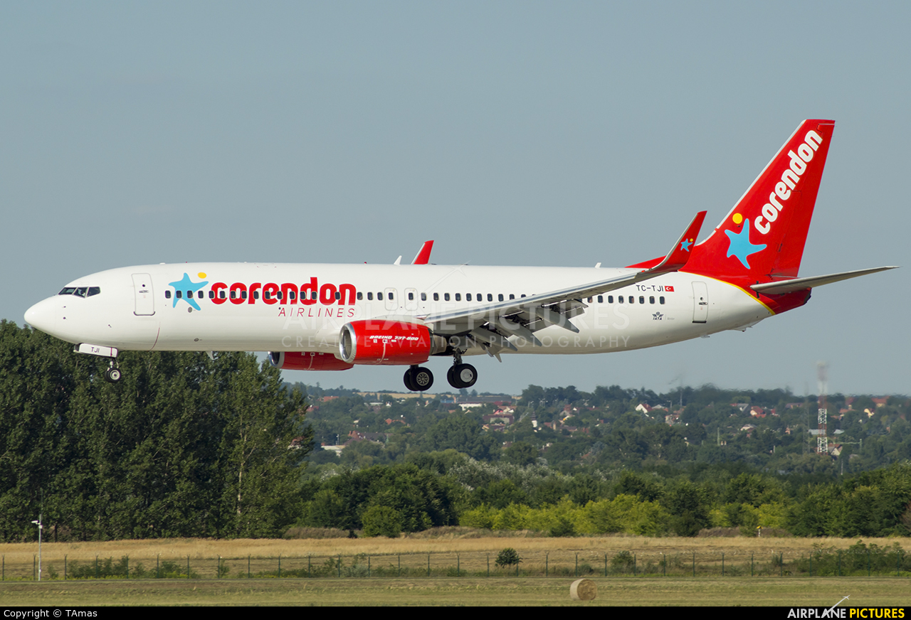 Corendon Airlines TC-TJI aircraft at Budapest Ferenc Liszt International Airport