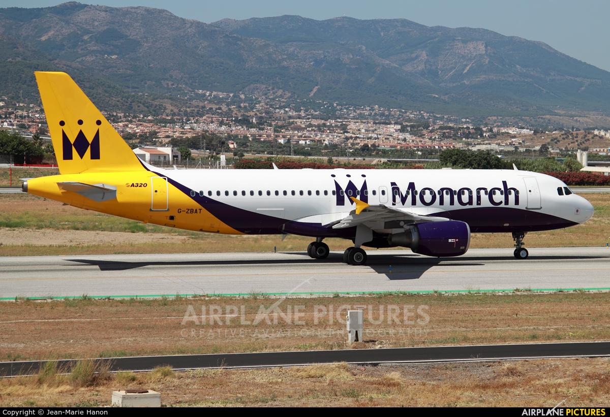 Monarch Airlines G-ZBAT aircraft at Málaga