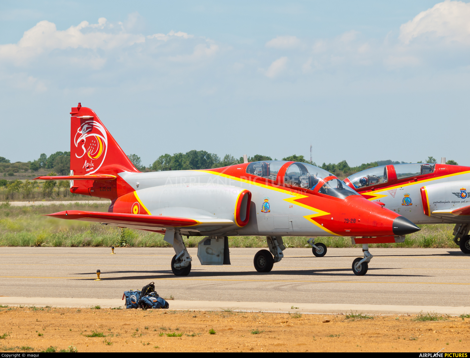 Spain - Air Force : Patrulla Aguila E.25-28 aircraft at León