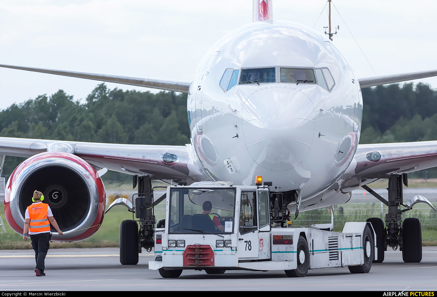 Corendon Airlines TC-TJT aircraft at Katowice - Pyrzowice