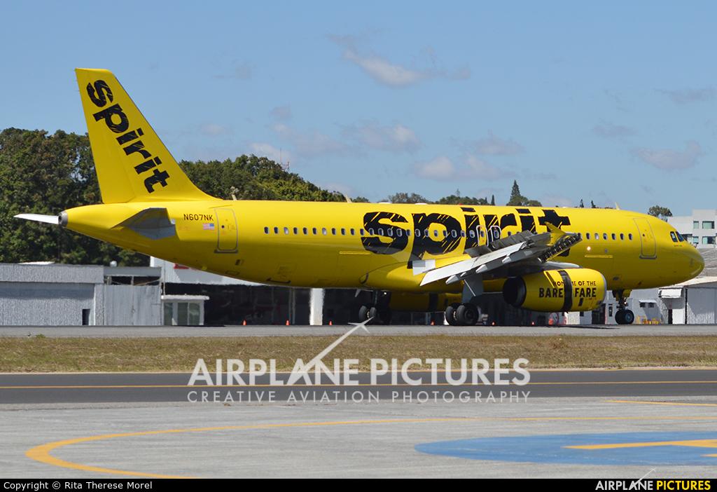 Spirit Airlines N607NK aircraft at Guatemala - La Aurora