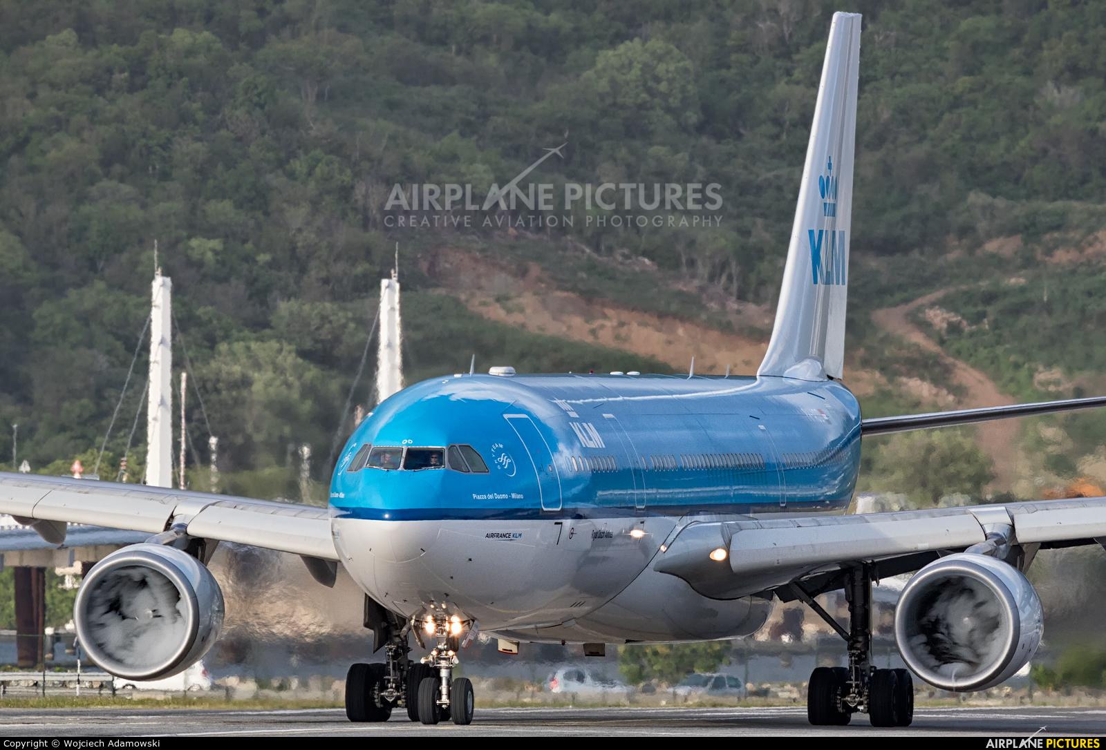 KLM PH-AOD aircraft at Sint Maarten - Princess Juliana Intl