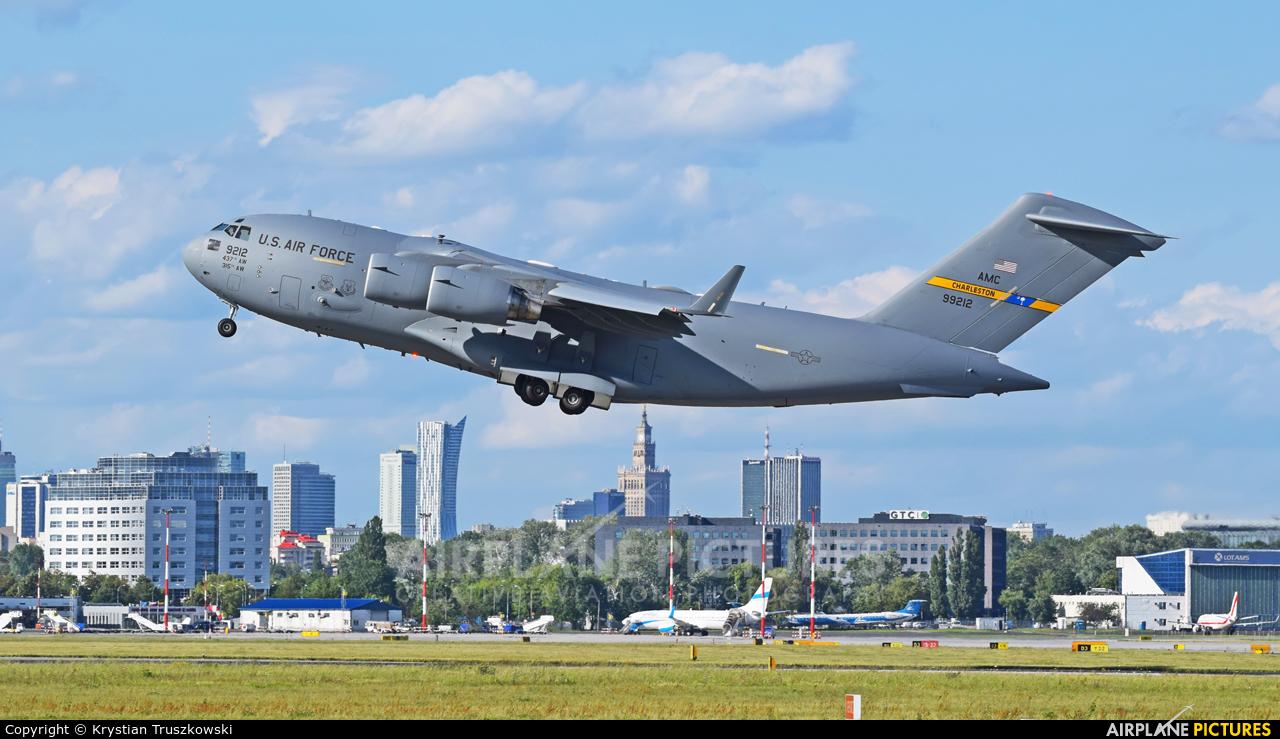 USA - Air Force 09-9212 aircraft at Warsaw - Frederic Chopin