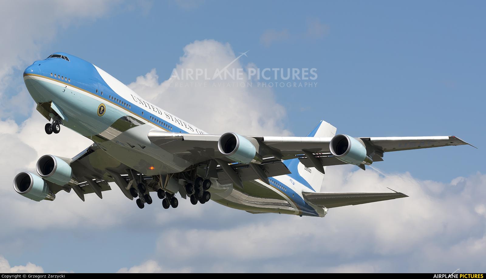 USA - Air Force 92-9000 aircraft at Warsaw - Frederic Chopin